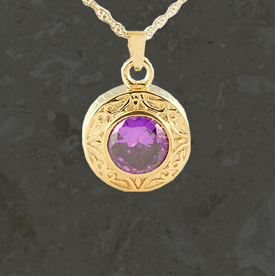 Keepsake jewelry - Amethyst - Gold