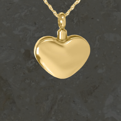 Keepsake jewelry - Simple heart - Gold
