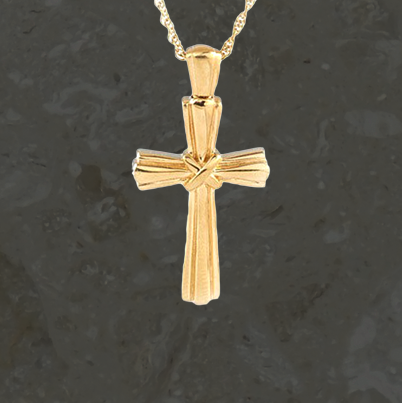 Keepsake jewelry - Lashed cross - Gold