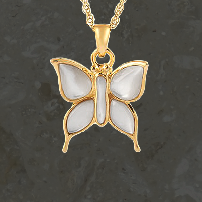 Keepsake jewelry - Butterfly - Gold