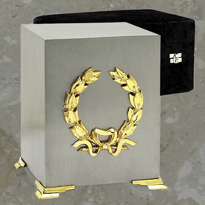 Cube - Brushed pewter finish