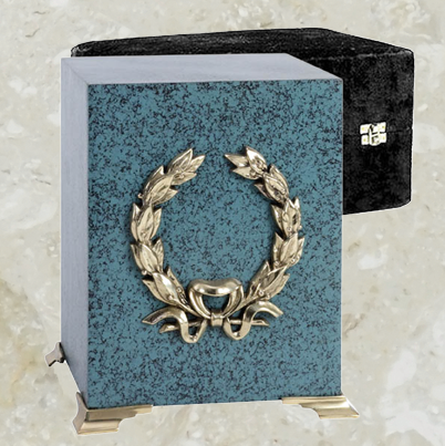 Cube - Marbled patina finish