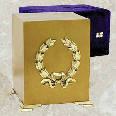 Cube - Brushed brass