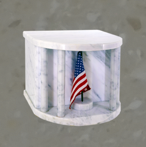 White House - Flag - Bianco carrara - Companion