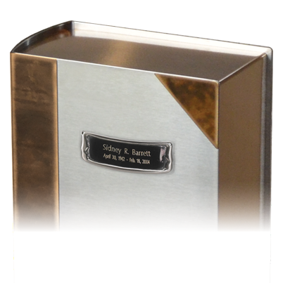 Engraving plate - Brushed pewter