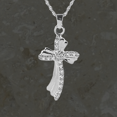 Keepsake jewelry - Fancy cross CZ - Silver