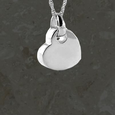 Keepsake jewelry - Hanging heart - Silver