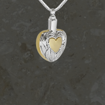 Keepsake jewelry - Golden heart