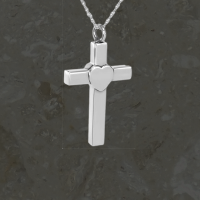 Keepsake jewelry - Cross and heart - Silver