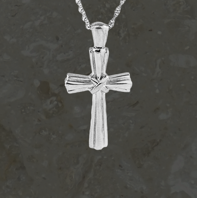Keepsake jewelry - Lashed cross - Silver