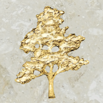 Urn ornament - Bonsaï - Gold