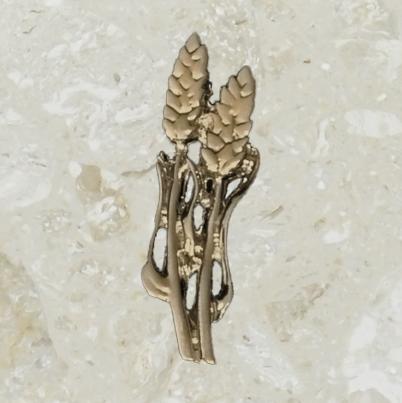 Ornement d'urne – Gerbe de blé double – Or antique