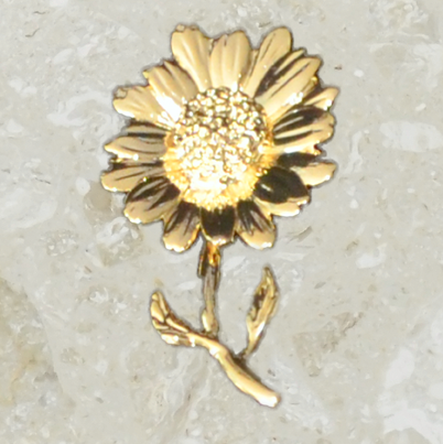 Urn ornament - Daisy - Gold