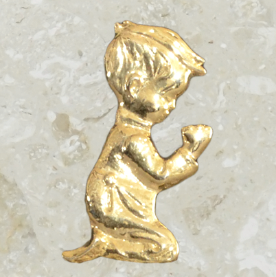 Urn ornament - Boy- Gold