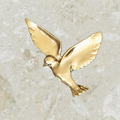 Urn ornament - Dove - Small - Gold