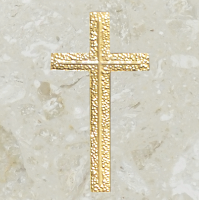 Urn ornament - Engraved cross