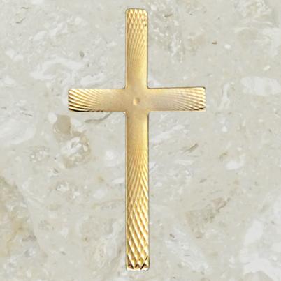 Ornement d'urne – Croix lacée – Or