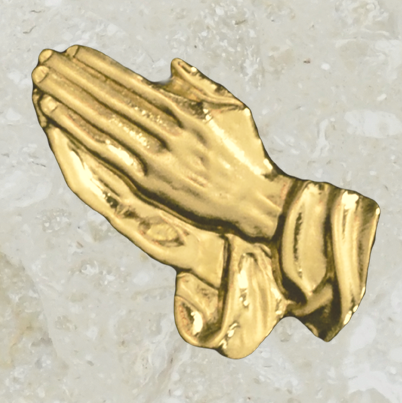Urn ornament - Praying hands - Gold