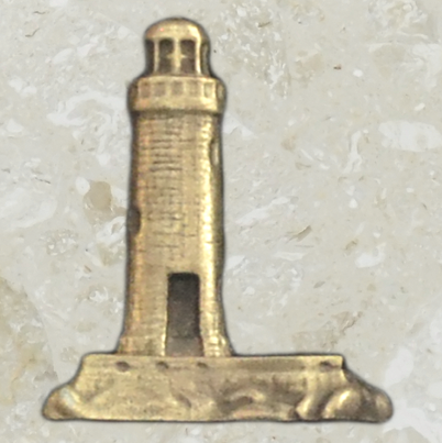 Urn ornament - Lighthouse - Antique gold