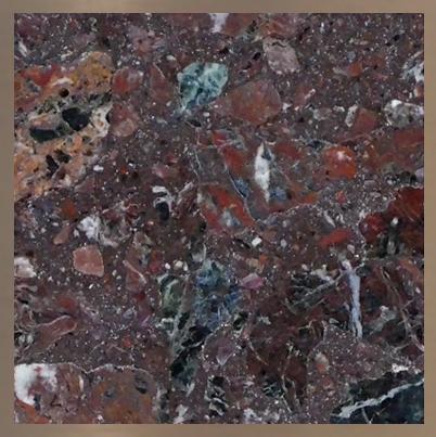 Aggloméré de marbre : Rosso Levanto #14