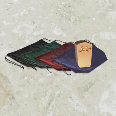 Pochette de velours – pour urnes – régulier – avec logo
