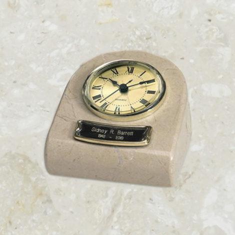 Horloge - Reliquaire - Marbre crème
