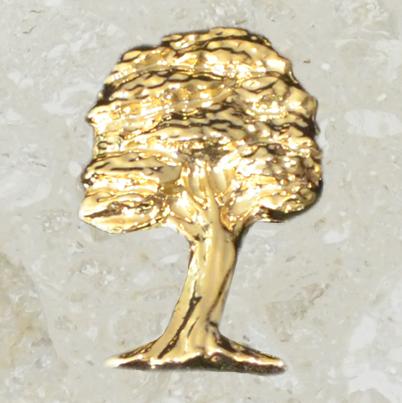 Ornement d'urne – Chêne – Or