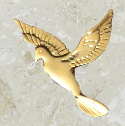 Ornement d'urne – Grande colombe – Or
