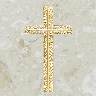 Ornement d'urne – Croix ornée – Or