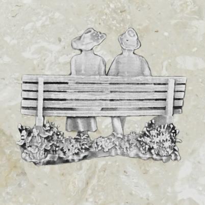 Ornement d'urne – Couple – Étain