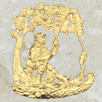 Ornement d'urne – Pêcheur – Or