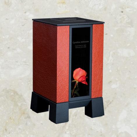 U1 - Cuir grené rouge / Noir sablé